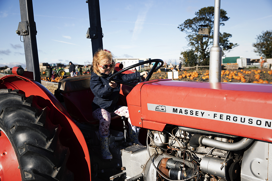 Tractor ride at Farmer Copleys Pumpkin Farm