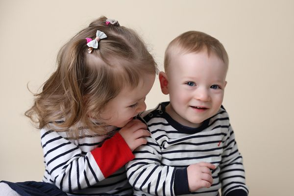 siblings at family photography session in Leeds